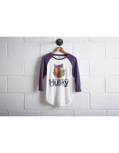 Tailgate Women's Washington Huskies Baseball Shirt - Free Returns