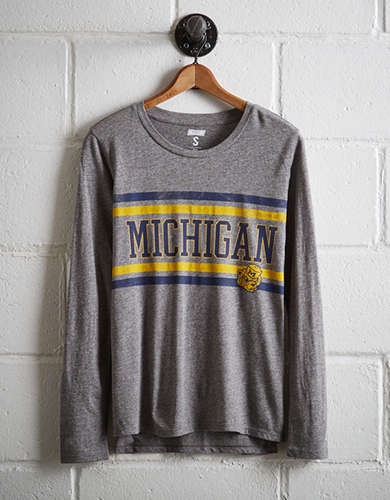 Tailgate Women's Michigan Long Sleeve T-Shirt -