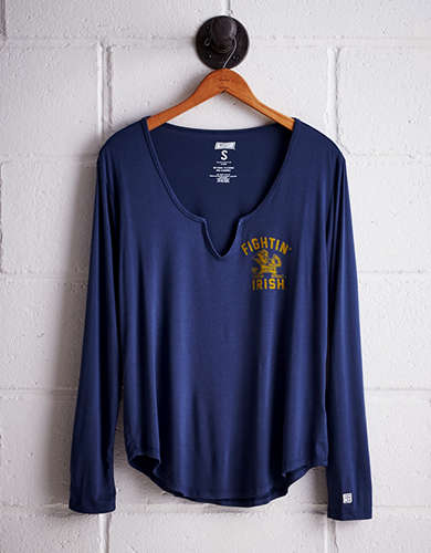 Tailgate Women's Notre Dame Split Neck T-Shirt - Free shipping & returns with purchase of NBA item