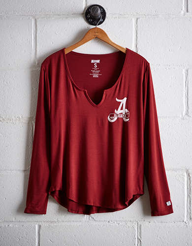 Tailgate Women's Alabama Split Neck T-Shirt - Free returns