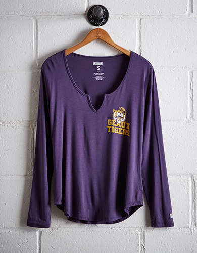 Tailgate Women's LSU Split Neck T-Shirt - Free shipping & returns with purchase of NBA item