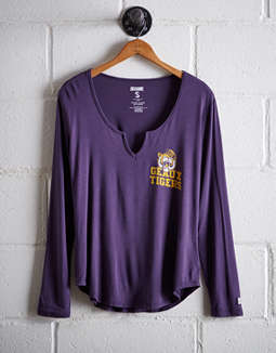 Tailgate Women's LSU Split Neck T-Shirt
