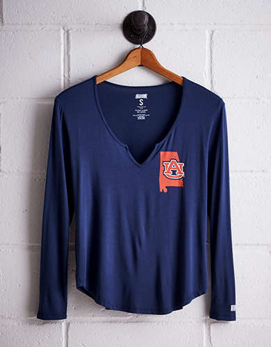 Tailgate Women's Auburn Split Neck T-Shirt - Free Returns