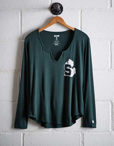 Tailgate Women's Michigan State Split Neck T-Shirt - Buy One Get One 50% Off