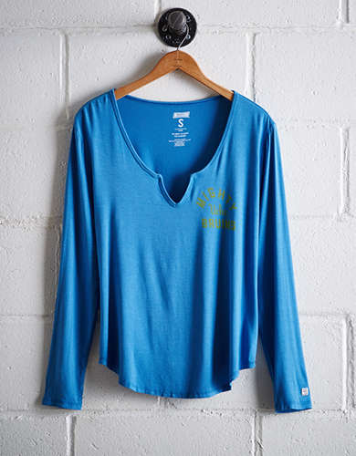 Tailgate Women's UCLA Split Neck T-Shirt - Free Returns