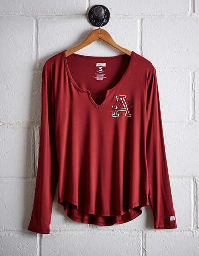 Tailgate Women's Arkansas Split Neck T-Shirt - Free returns