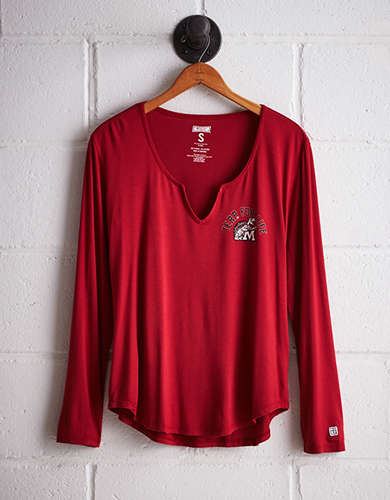 Tailgate Women's Maryland Split Neck T-Shirt - Free Returns