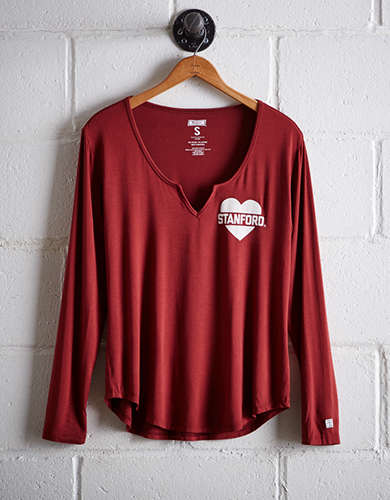 Tailgate Women's Stanford Split Neck T-Shirt - Free Returns