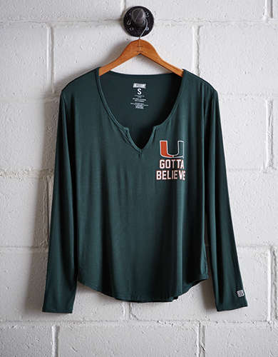 Tailgate Women's Miami Split Neck T-Shirt - Free Returns