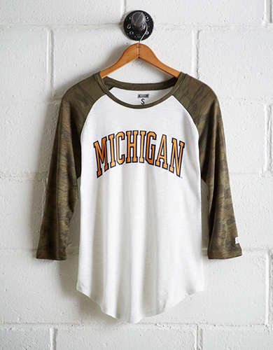 Tailgate Women's Michigan Baseball Shirt - Free Returns