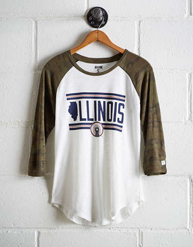 Tailgate Women's Illinois Baseball Shirt - Free returns