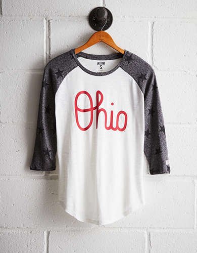 Tailgate Women's OSU Star Print Baseball Shirt - Buy One Get One 50% Off