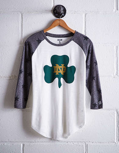 Tailgate Women's Notre Dame Star Print Baseball Shirt - Free returns