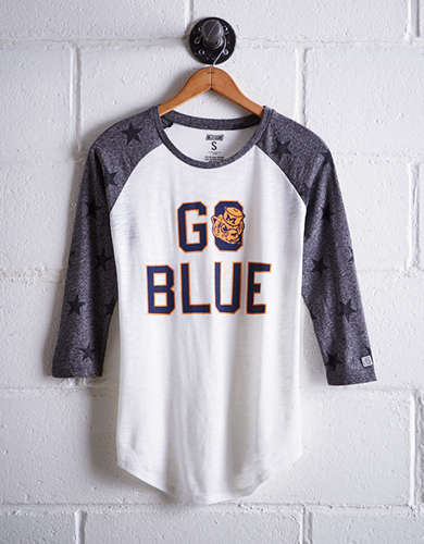 Tailgate Women's Michigan Star Print Baseball Shirt - Buy One Get One 50% Off