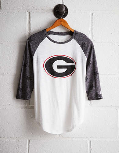 Tailgate Women's Georgia Star Print Baseball Shirt - Free Returns
