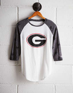 Tailgate Women's Georgia Star Print Baseball Shirt by American Eagle Outfitters