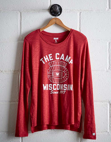 Tailgate Women's The Camp Wisconsin Long Sleeve T-Shirt - Free Returns