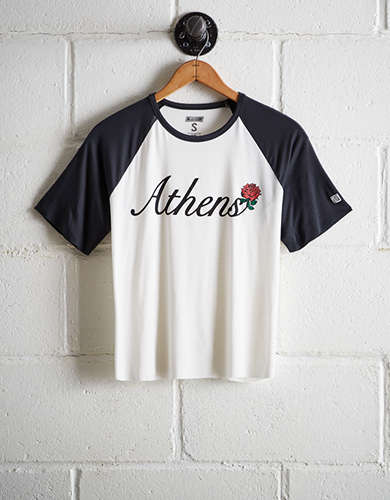 Tailgate Women's Athens Cut-Off Baseball Tee - Free Returns