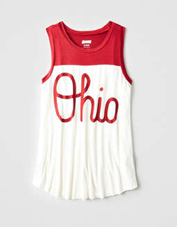 Tailgate Women's Ohio State Color Block Tank
