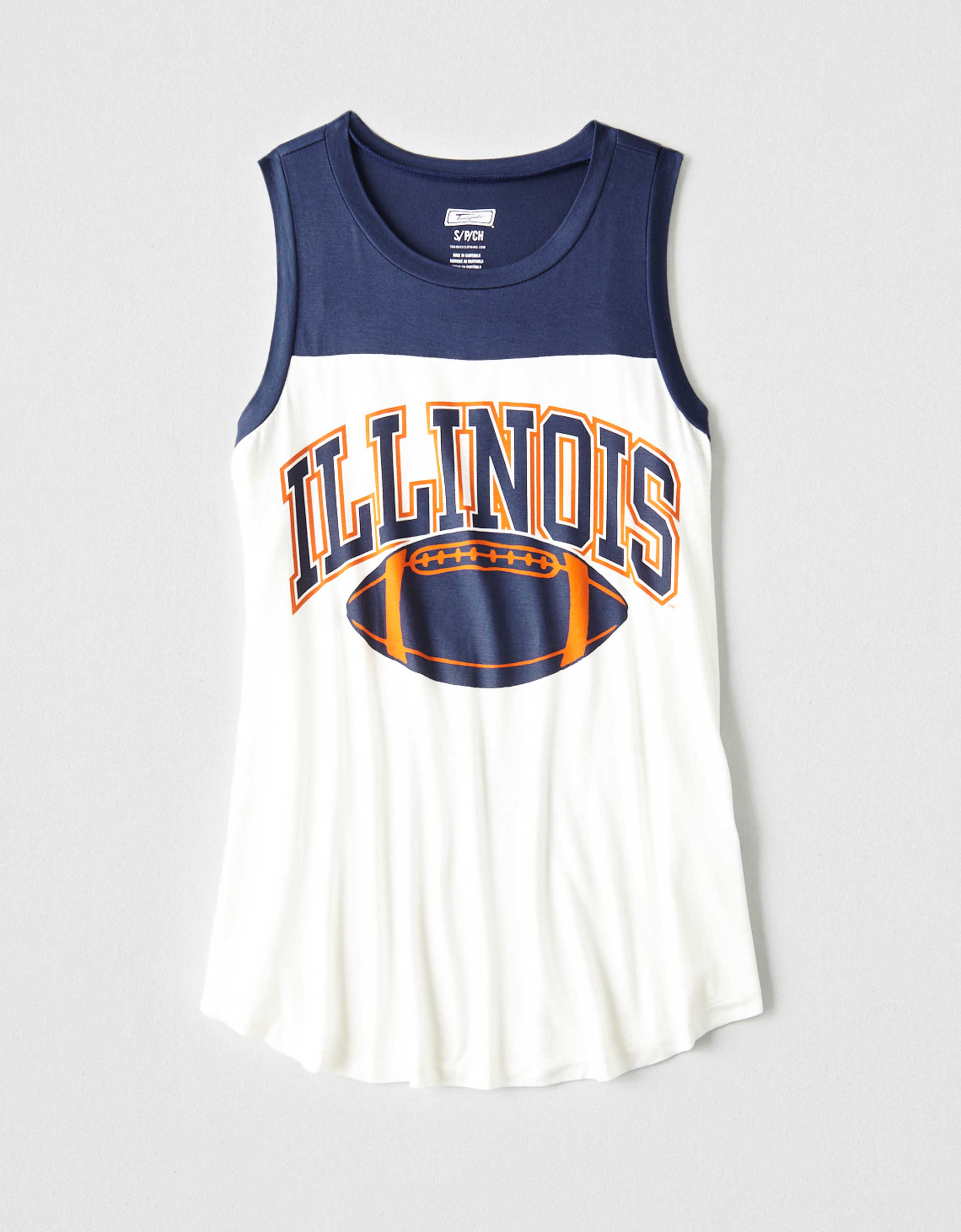 Tailgate Women's Illinois Color Block Tank