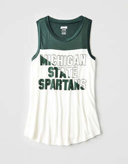 Tailgate Women's Michigan State Color Block Tank