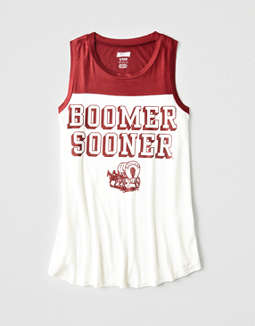 Tailgate Women's Oklahoma Sooners Color Block Tank