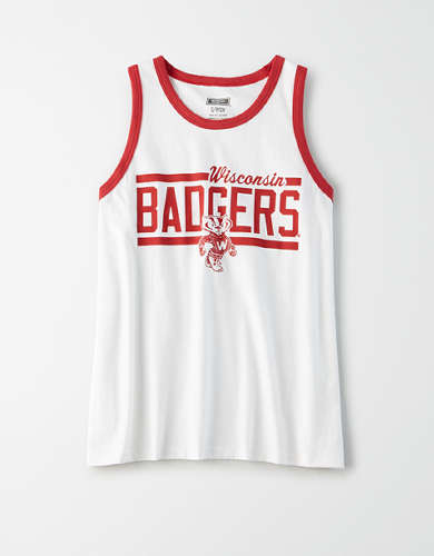 Tailgate Women's Wisconsin Badgers Ringer Tank Top