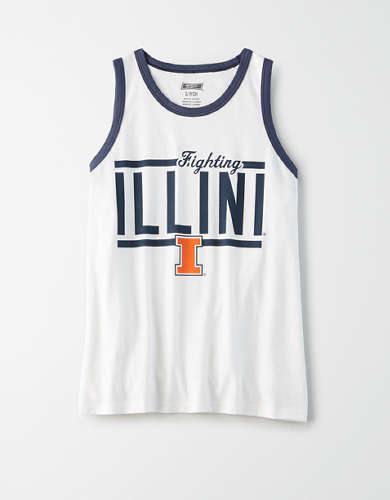 Tailgate Women's Illinois Fighting Illini Ringer Tank Top