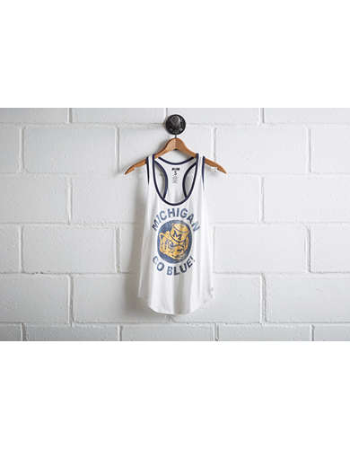 Tailgate Women's Michigan Ringer Tank - Free Returns
