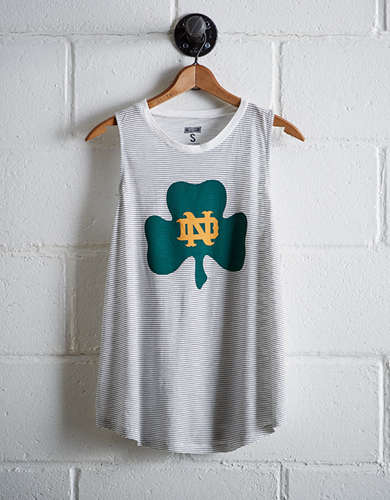 Tailgate Women's Notre Dame Stripe Tank - Buy One Get One 50% Off