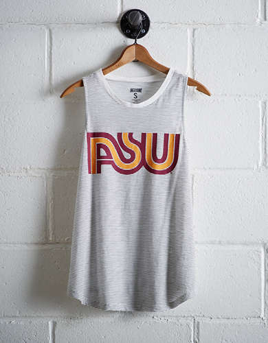 Tailgate Women's Arizona State Stripe Tank - Free Returns