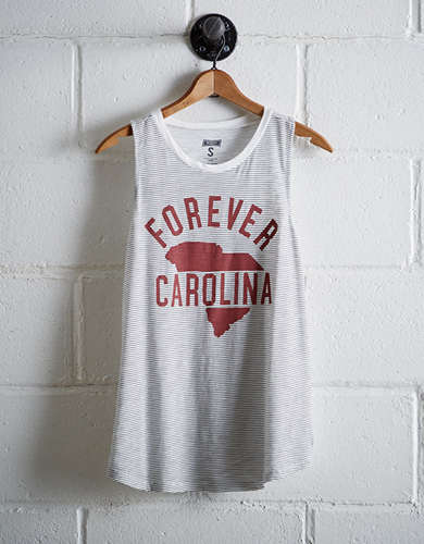 Tailgate Women's South Carolina Stripe Tank - Free Returns