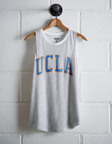 Tailgate Women's UCLA Bruins Stripe Tank - Free Returns