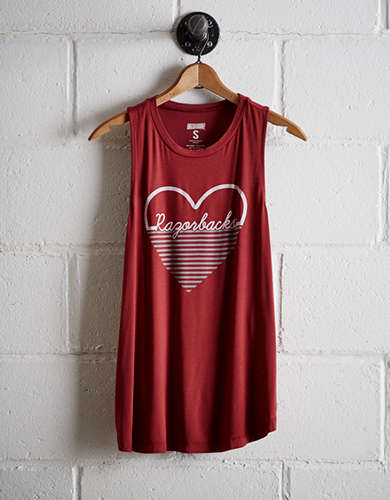 Tailgate Women's Arkansas Heart Tank - Free Returns