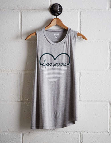 Tailgate Women's Michigan State Heart Tank - Free Returns