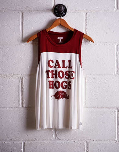 Tailgate Women's Arkansas Colorblock Tank -