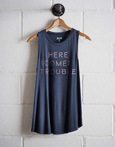 Tailgate Women's Here Comes Trouble Tank - Free Returns