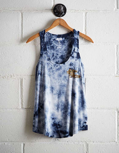 Tailgate Women's Michigan Tie-Dye Scoop Neck Tank - Free Returns