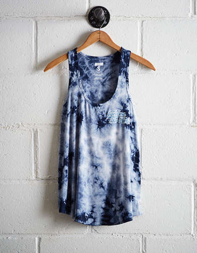 Tailgate Women's UNC Tie-Dye Scoop Neck Tank - Free Returns