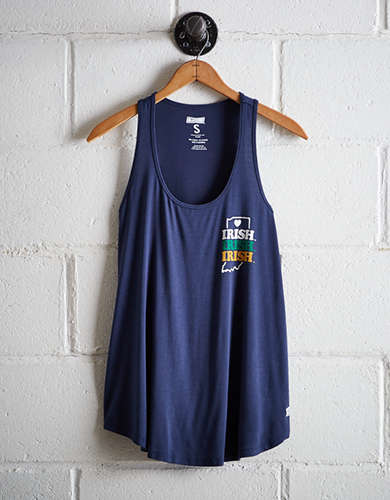 Tailgate Women's Notre Dame Scoop Neck Tank - Free Returns