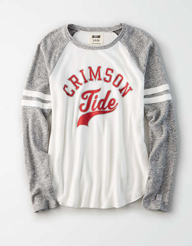 Tailgate Women's Alabama Crimson Tide Plush Raglan Shirt