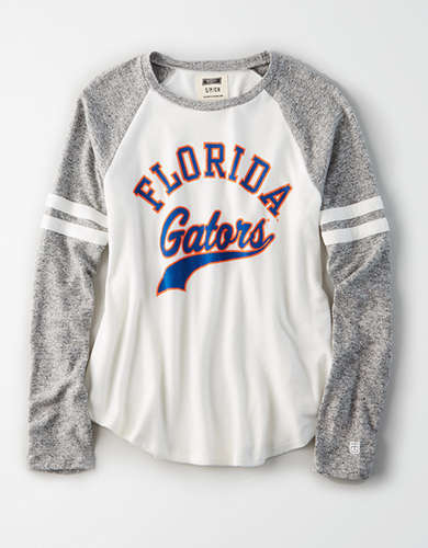 Tailgate Women's Florida Gators Plush Raglan Shirt