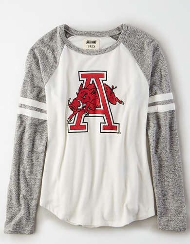 Tailgate Women's Arkansas Razorbacks Plush Raglan Shirt