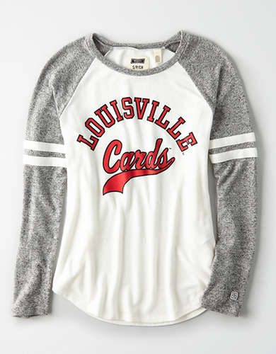 Tailgate Women's Louisville Cardinals Plush Raglan Shirt