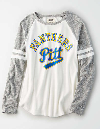 Tailgate Women's Pitt Panthers Plush Raglan Shirt