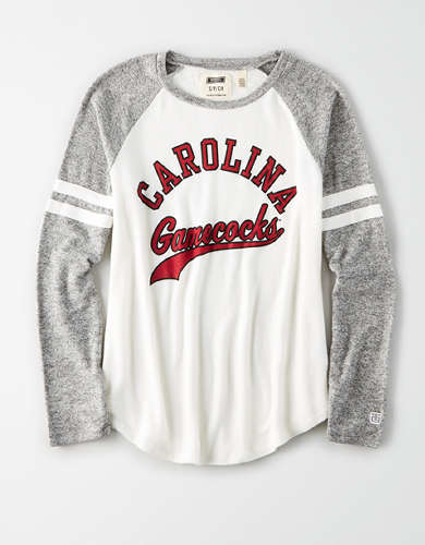 Tailgate Women's Carolina Gamecocks Plush Raglan Shirt