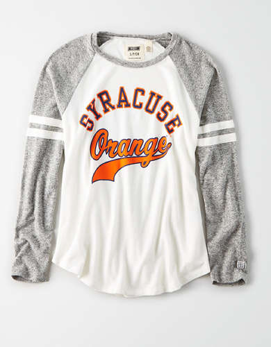 Tailgate Women's Syracuse Orange Plush Raglan Shirt
