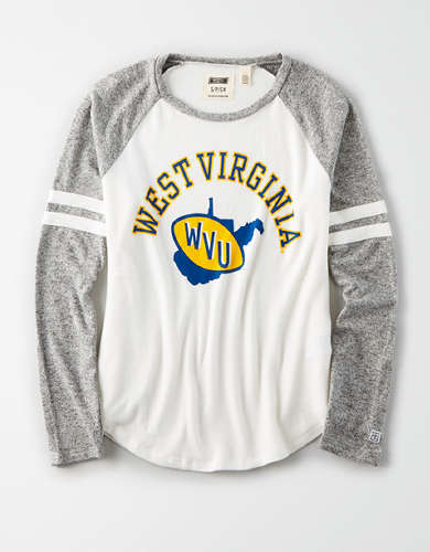 Tailgate Women's WVU Mountaineers Plush Raglan Shirt