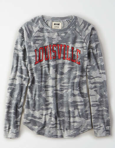 Tailgate Women's Louisville Cardinals Plush Camo Shirt