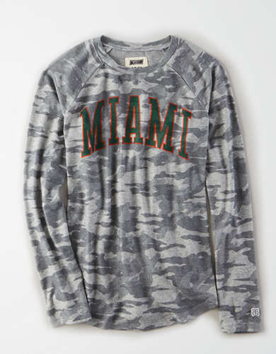 Tailgate Women's Miami Hurricanes Plush Camo Shirt